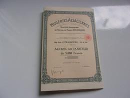 HUILERIES ALSACIENNES (1953) STRASBOURG - Unclassified