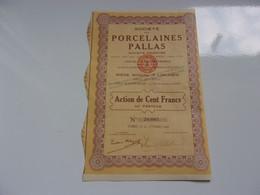 PORCELAINES PALLAS (1929) LIMOGES - Unclassified