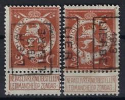 PELLENS STAANDE LEEUW Cijfer Nr. 109 Voorafgestempeld Nr. 2224 A + B   LIER  1913  LIERRE ,  Staat Zie Scan ! - Roller Precancels 1910-19