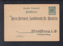 Dt. Reich Frankreich France GSK Vordruck Kreisarzt Strassburg - Stamped Stationery