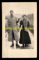 22 - SAINT-BRIEUC - SOLDAT DU 155E ET SON EPOUSE - SOUVENIR DU 1ER JANVIER 1916 - CARTE PHOTO ORIGINALE - Saint-Brieuc