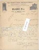 1905 Facture Illustrée BLANC Fils / Ebéniste / Meubles, Ameublement / 03 Cérilly / Allier - 1900 – 1949