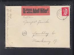 Dt. Reich Brief 1944 Bad Sazuflen Vignette Wir Wählen Adolf Hitler - Storia Postale