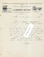 1913 / Facture Illustrée LAMBERT GUYOT / Forge Charron / Voitures (à Cheval) / 02 Saint-Marcel-sous-Laon / Aisne - 1900 – 1949