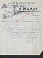 LETTRE COMMERCIALE DE 1910 H. MAROT GRANDE PARFUMERIE DU PORT À NIORT : - Artigianato