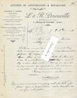 1908 Facture L & R DENEUVILLE / Construction Réparation Moteurs, Machines à Battre / 02 Château-Thierry / Aisne - 1900 – 1949