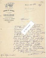 1907 Facture Illustrée GROLIERE / Succ Jobert / Fabrique Voitures (à Cheval)  / 03 Murat / Allier - 1900 – 1949