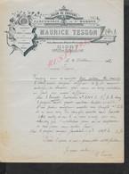 LETTRE COMMERCIALE DE 1911MAURICE TESSON SALON DE COIFFEUR PARFUMERIE POSTICHES PEIGNES À NIORT : -  : - Artigianato