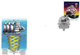 MADE IN LATVIA Lettland ,Lettonia 2016 OLD SAILING SHIPS HISTORY 19ct - FDC - Lettonie