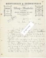 1909 Facture UBERTY BARTHELAT / Menuisier ébéniste / à La Gare / Saint-Gérand-Le Puy / Par Magnet / 03 Allier - 1900 – 1949