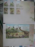 China Hong Kong 2014 Chinese Dinosaur Stamps & S/S 恐龍  FDC - FDC