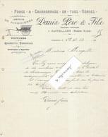 1913 Facture Illustrée DANIS Père & Fils / Forge, Charron, Voitures / 04 Castellane / Basses Alpes (Haute-Provence) - 1900 – 1949