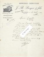 1913 Facture Illustrée J-B BOYER / Menuisier ébéniste / 04 Beauvezer / Basses Alpes (Haute-Provence) - 1900 – 1949