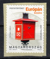MAILBOX Post Box Mail Cover Box  /  Hungary 2021 Self Adhesive - For Otuside Of EUROPE Europa WORLD - MNH - Post