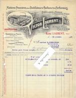 1925 Facture Illustrée V LAURENT / Matières Pour Distillerie, Confiseur, Parfumeur / Vanille / 06 Cannes / Pour Thann 68 - 1900 – 1949