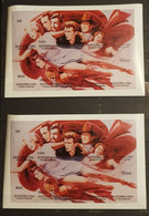 TUVA CELEBRITY LOT 2 SHEETS IMPERFORED MNH. - Actores