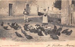 58-ENVIRONS DE SAINT-PIERRE-LE-MOUTIER- VALLEE DE L'ALLIER, LA FERME , LA BASSE-COUR - Saint Pierre Le Moutier