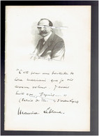 MAURICE LEBLANC 1864 ROUEN 1941 PERPIGNAN ROMANCIER ARSENE LUPIN PORTRAIT AUTOGRAPHE BIOGRAPHIE ALBUM MARIANI - Historische Documenten