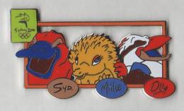Pin's  SYDNEY 2000 Mascotte Syd, Millie Et Olly En EGF. - Giochi Olimpici