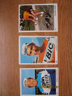Cyclisme  Wielrenners  Stickers 5x7 Cm    Cyrille Guimard  Jacques Anquetil  Louison Bobet - Ciclismo