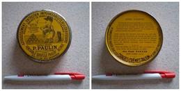 Ancienne Boîte De Graisse PAULIN, Tanneur à Saint Claude, Jura, 125 Grs. - Boîtes