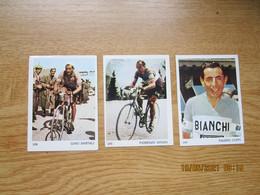 Cyclisme  Wielrenners  Stickers 5x7 Cm    Gino Bartali  Fausto Coppi  Fiorenzo Magni - Ciclismo