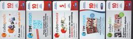 Italia Tim Telekom 5 Prepagata PrePaid 5/10 Cubo Giochi Musica Libri Tim Vision SCD00097 - [2] Sim Cards, Prepaid & Refills