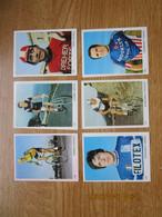 Cyclisme  Wielrenners  Stickers 5x7 Cm    Lot Van  6  Motta, Moser, Bitossi, Polidori, Zilioli Turrini - Ciclismo