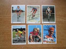 Cyclisme  Wielrenners  Stickers 5x7 Cm    Lot Van  6 Bahamonts, Ritter, Porter, Cateau, Petterson, De Creux - Ciclismo