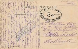 CP Toulouse 14.10.18 Vers Pays Bas, Ossendrecht – Censure Française Et Des Pays Bas - Brieven En Documenten