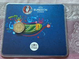 FRANCE 2016 2€ Euro De Football UEFA Sous Blister (BU Coincard) - France