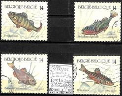 [842202]TB//O/Used-Belgique 1990 - N° 2383/86, Du Carnet 20 !SNC! Le Scan N'est Pas Contractuel, Poissons, Animaux - Used Stamps