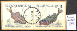 [842209]TB//O/Used-Belgique 1990 - NAMUR, Poissons, Animaux - Used Stamps