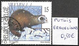 [842225]TB//O/Used-Belgique 1992 - Putois, ERQUELINNES, Animaux - Used Stamps