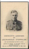 Brecht Bidprentje Leonardus Van Stoffelen - 1939-45
