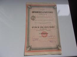 IMPRIMERIES ET PAPETERIES COMMERCIALES (clermont Ferrand PUY DE DOME) - Sin Clasificación