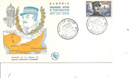 Algérie   -Maréchal Franchet D'Esperey ( FDC De 1956 à Voir) - Briefe U. Dokumente