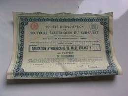 EXPLOITATION DE SECTEURS ELECTRIQUES DU SUD OUEST (tarbes-hautes Pyrenees) - Sin Clasificación
