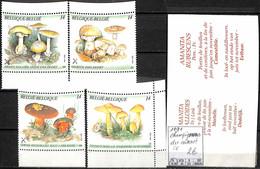 [847297]TB//**/Mnh-Belgique 1991 - Du Carnet, SC, Champignons, Végétaux - Mushrooms