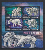 Centrafricaine - 2013 - N°Yv. 3034 à 3037 - Ours Polaire - Neuf Luxe ** / MNH / Postfrisch - Repubblica Centroafricana
