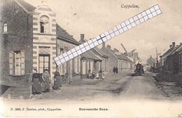 """CAPPELLEN-KAPELLEN"""" HOEVENSCHE BAAN-CAFE-ACHTERGROND DE MOLENWIEKEN """"HOELEN N°1645 UITGIFTE 1906 TYPE 3 - Kapellen"""