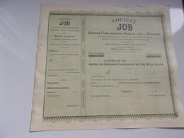 Société JOB (bardou-job Et Pauilhac) PERPIGNAN - Sin Clasificación