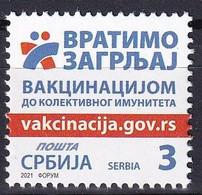 SERBIA 2021, Vaccination Against Corona Health Disease Medicine Covid,MNH - Krankheiten