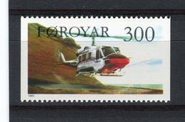 ILES FEROE - Y&T N° 123** - MNH - Hélicoptère Snipan - Isole Faroer