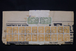 INDOCHINE - Affranchissement De Hanoi Sur Bande Journal  Avec Fragment Du Journal En 1949 - L 100331 - Storia Postale