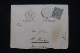 MARTINIQUE - Enveloppe De Fort De France Pour St Briac En 1899 Avec Cachet De Ligne Maritime - L 100332 - Briefe U. Dokumente
