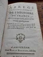 Abrégé Chronologique De L'histoire De France Tome 12 DE VILLIERS  David Mortier 1755 - History