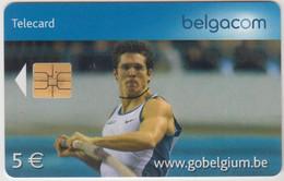 BELGIUM - Pole Vaulting (Thibaut Duval), 5 €, Tirage 125.000, Used - With Chip