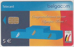 BELGIUM - Congratulations To Our Olympic Team!, 5 €, Tirage 100.000, Used - With Chip