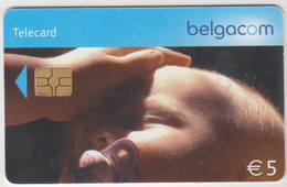 BELGIUM - Child With Dummy, 5 €, Tirage 80.000, Used - With Chip